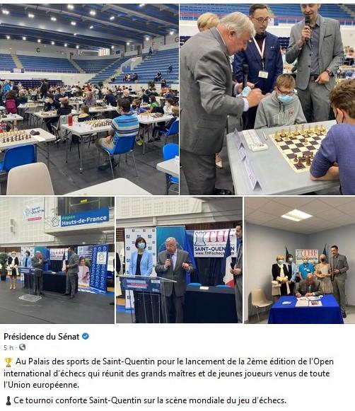 Le président du Sénat lance la ronde 3 de l'Open International de St Quentin cover