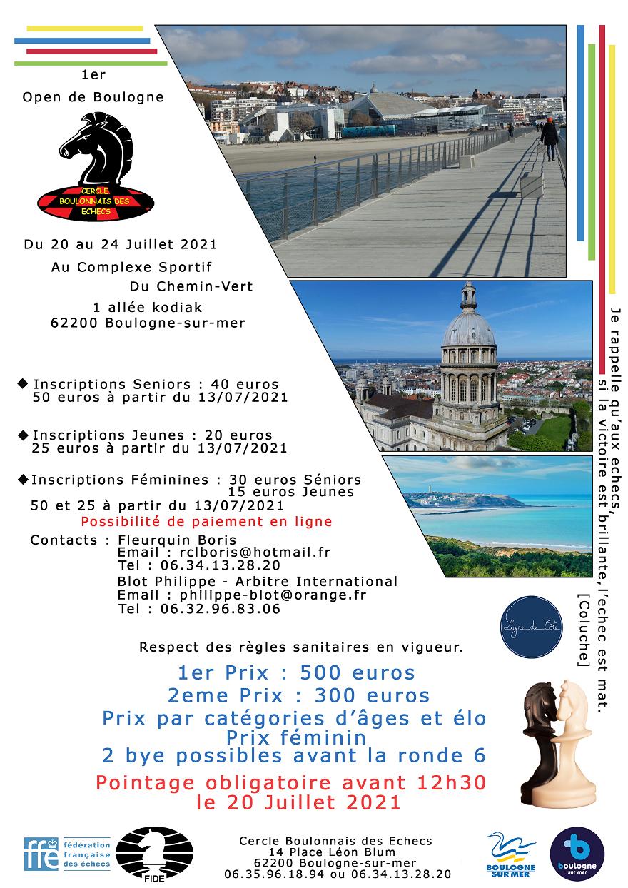 1er Open de Boulogne du 20 au 24 juillet cover