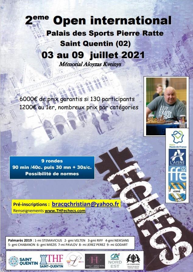 2eme Open International de St Quentin du 03 au 09 juillet 2021 cover